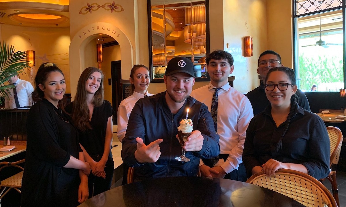 stetson with cheesecake factory servers