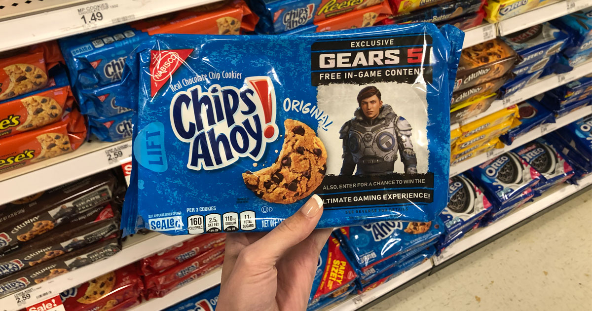 Target Chips Ahoy! Chocolate Chip Cookies in blue