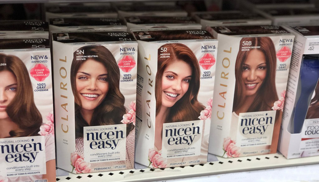 Clairol Nice'n easy on shelf