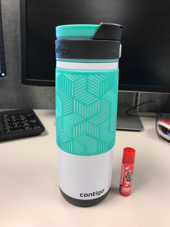 Contigo Travel Mug on desk