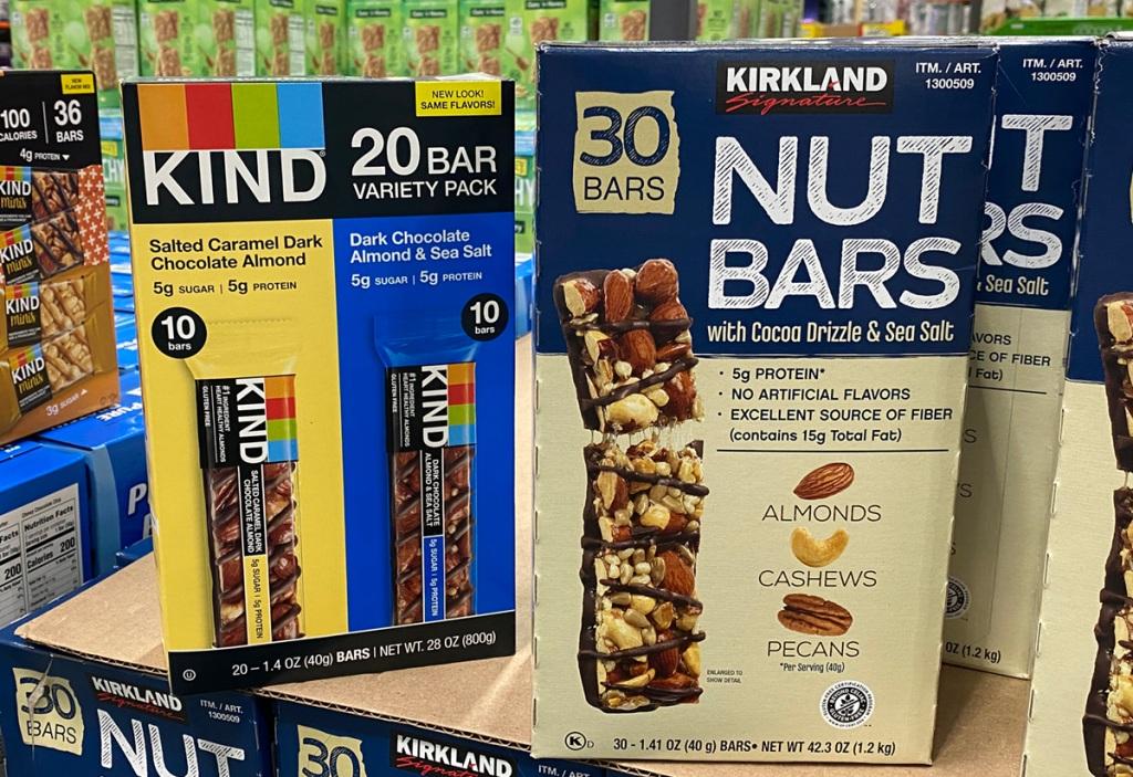 box of costco nut bars