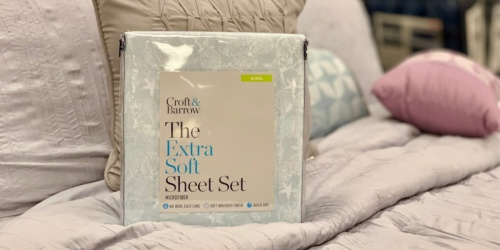 Croft & Barrow Extra Soft Sheet Sets Only $12.74 at Kohl's (Regularly up to $80) – Valid for ALL Sizes