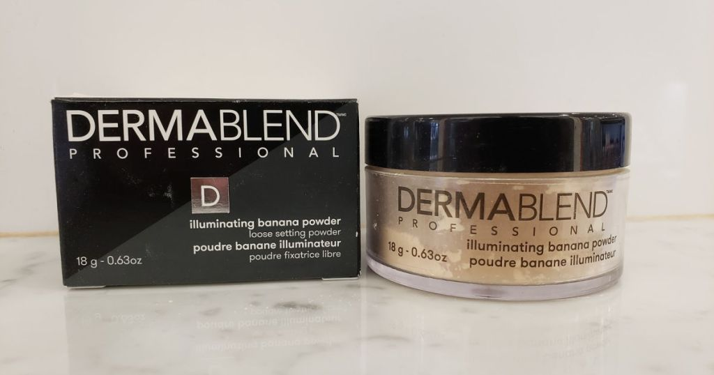 dermablends banana powder with box