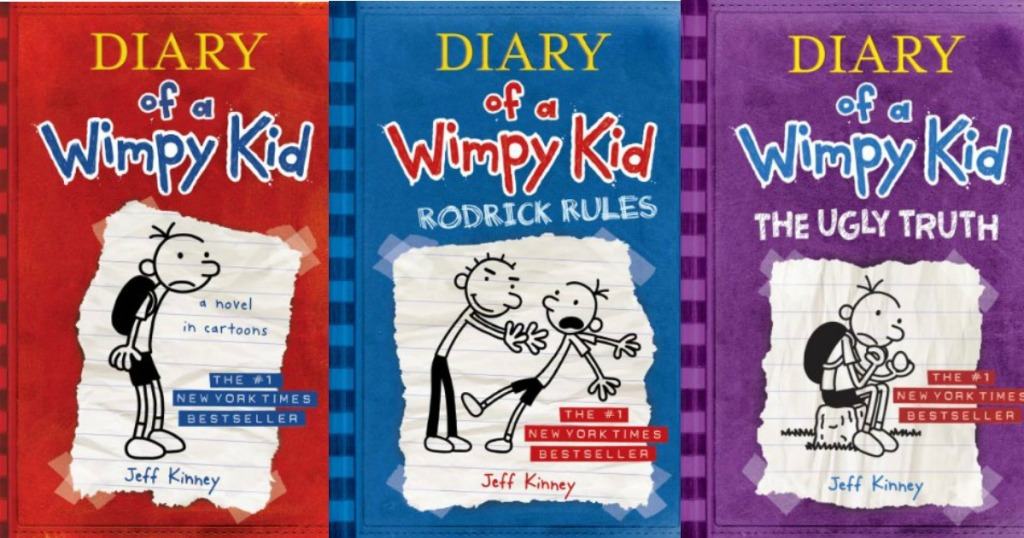 diary of a wimpy kid books cover art