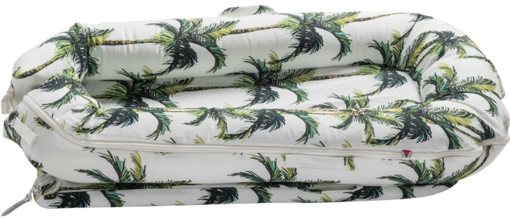 baby pillow with palm trees on it