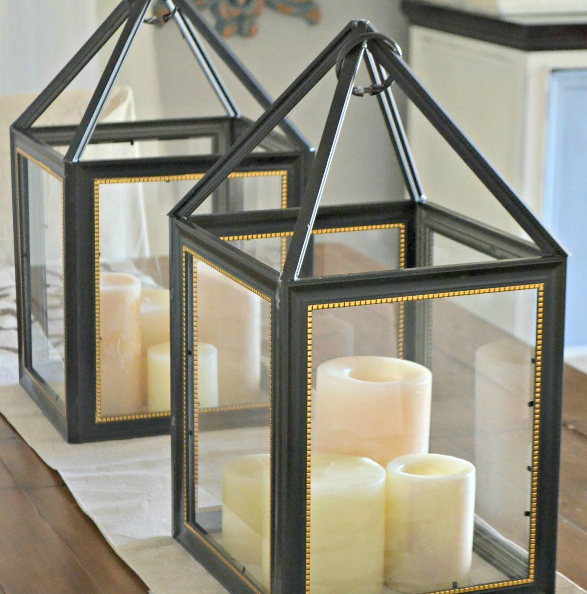 Turn Dollar Store Frames Into A Trendy Decorative Lantern