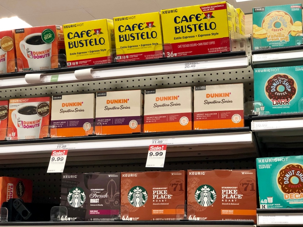 dunkin donuts signature series k-cups on Target Shelf