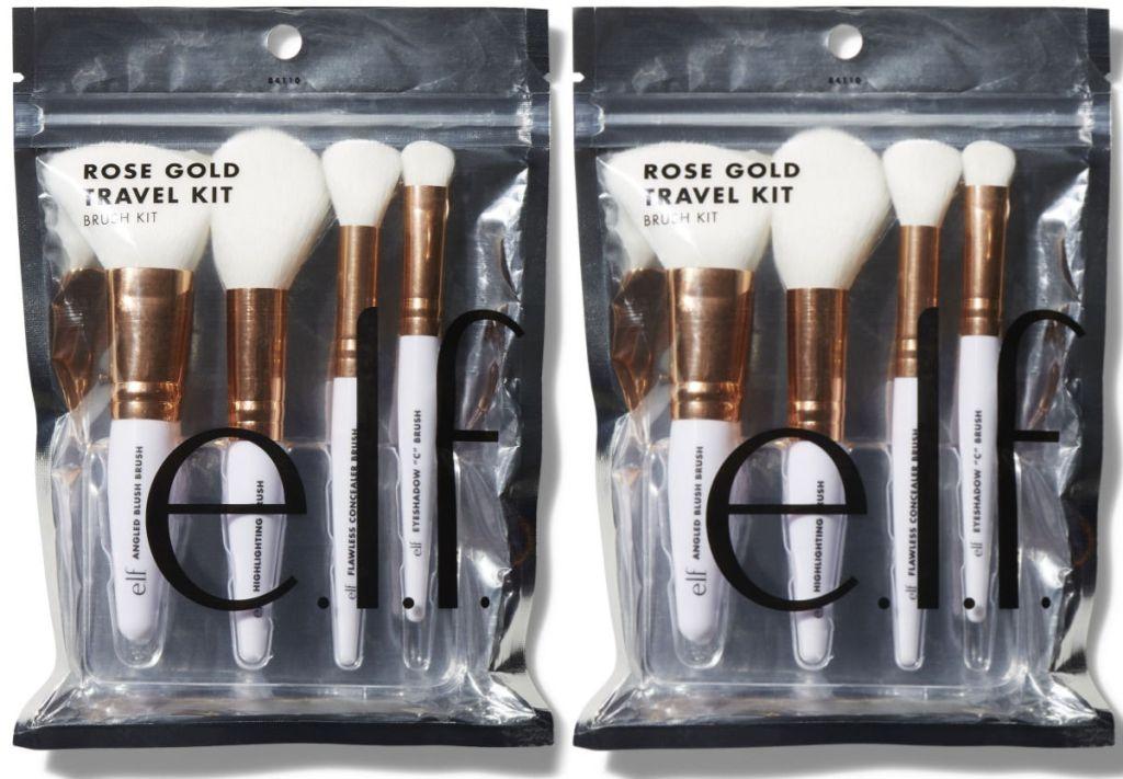 e.l.f. Cosmetics Rose Gold Travel Brush Kit