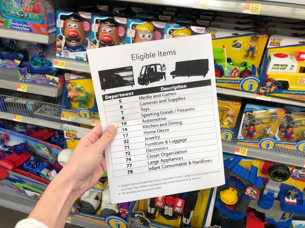 eligible items for Walmart Layway