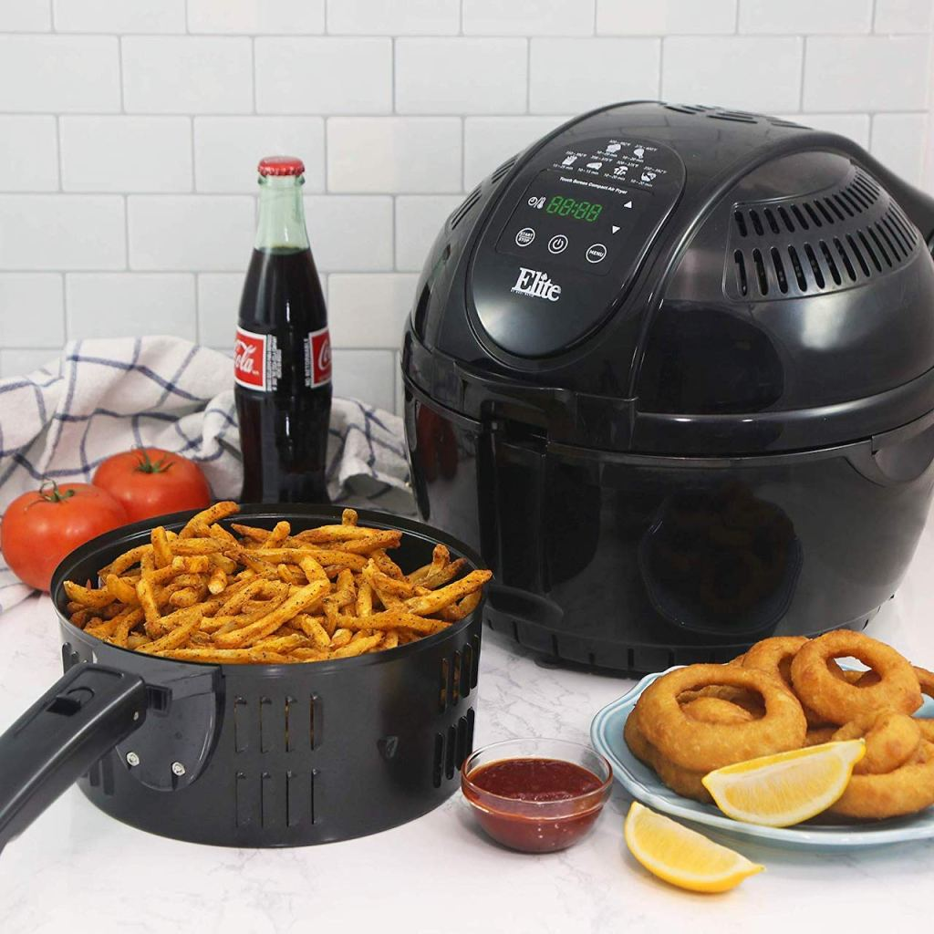 Elite air fryer on kitchen counter