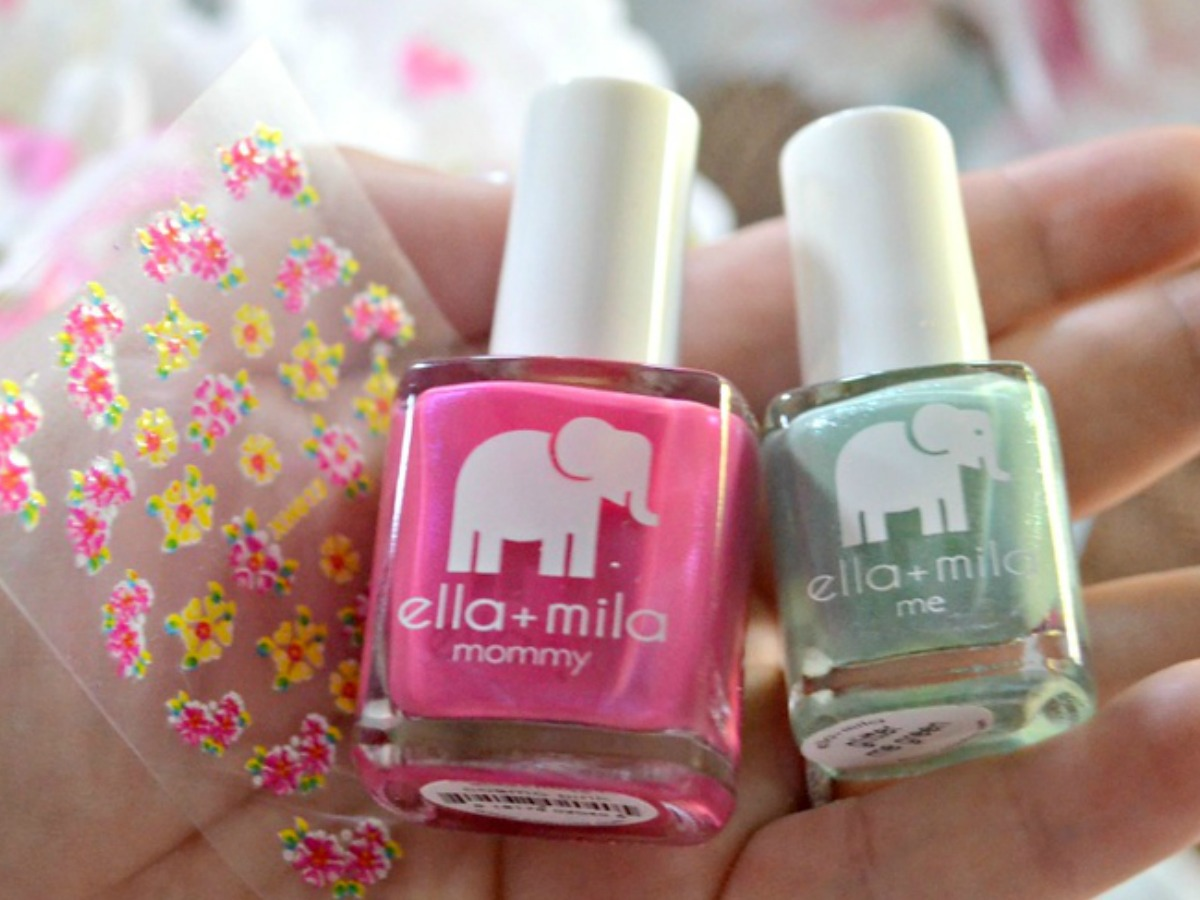 ella + mila nail polish bottles in Spring colors