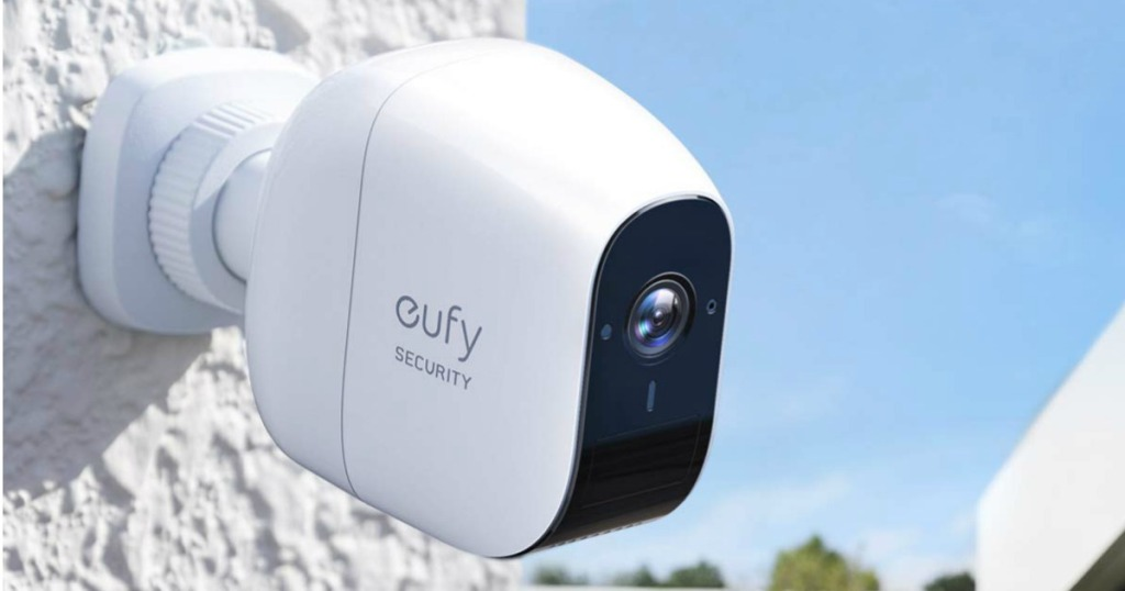 eufy Wireless Home Security Camera System installed on a house