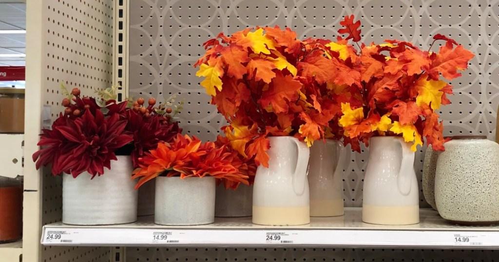fall decor at Target