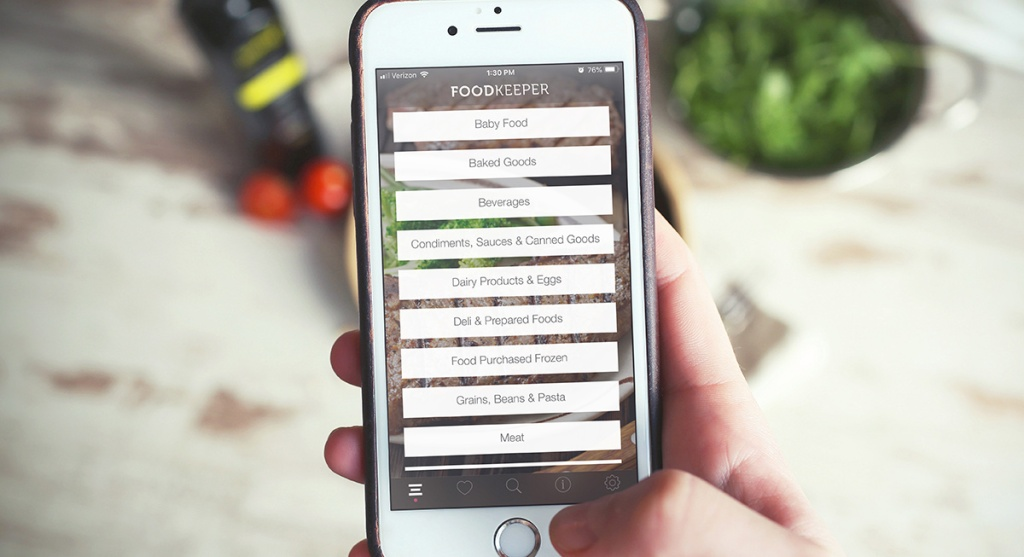 FoodKeeper FDA app on smartphone