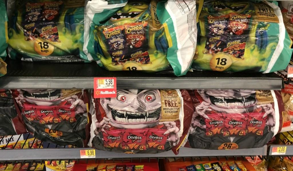 frito lay halloween multipacks on Walmart shelf
