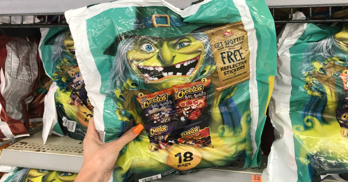 Cheetos Bag of Bones Snacks Spotted at Walmart | Score FREE Halloween Reflective Stickers w/ Purchase