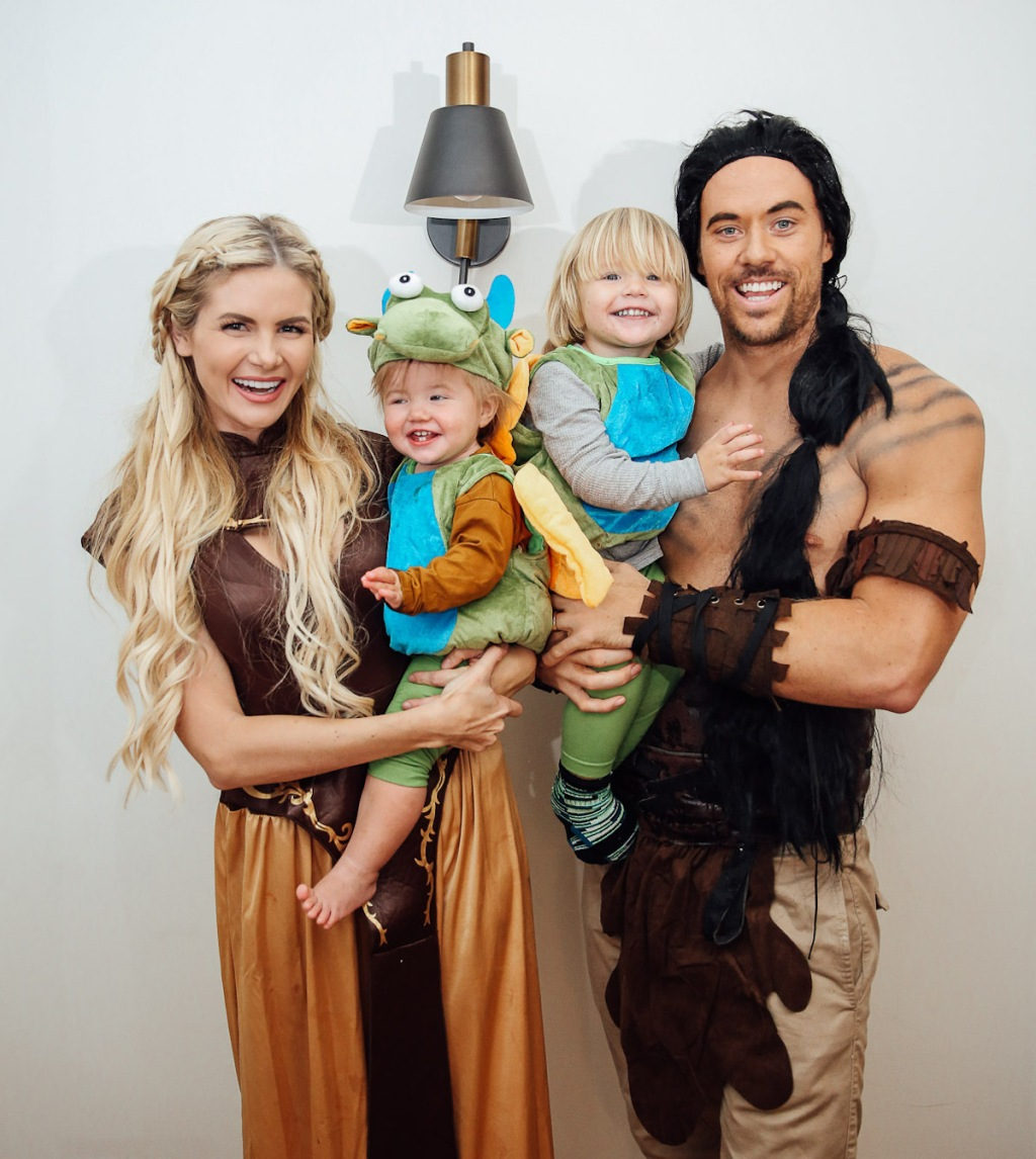 family wearing dragon and game of thrones costumes