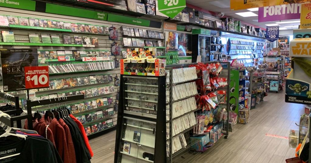 GameStop store interior