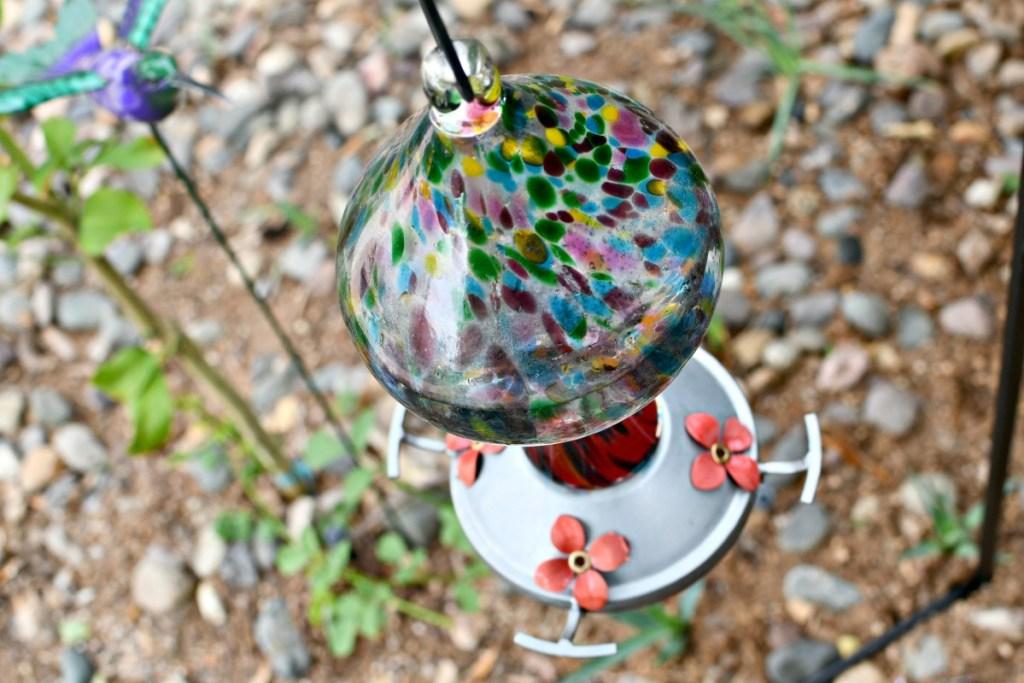 grateful gnome hummingbird feeder