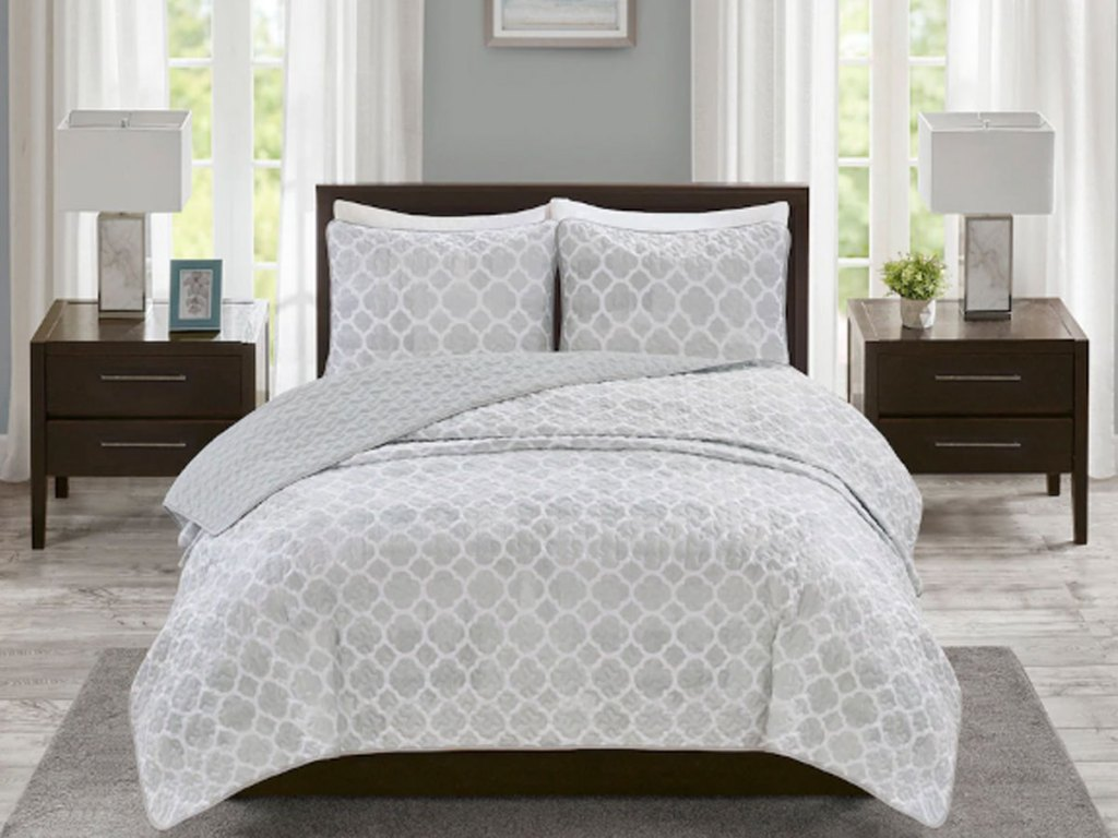 kohls madison park essentials quilt set gray