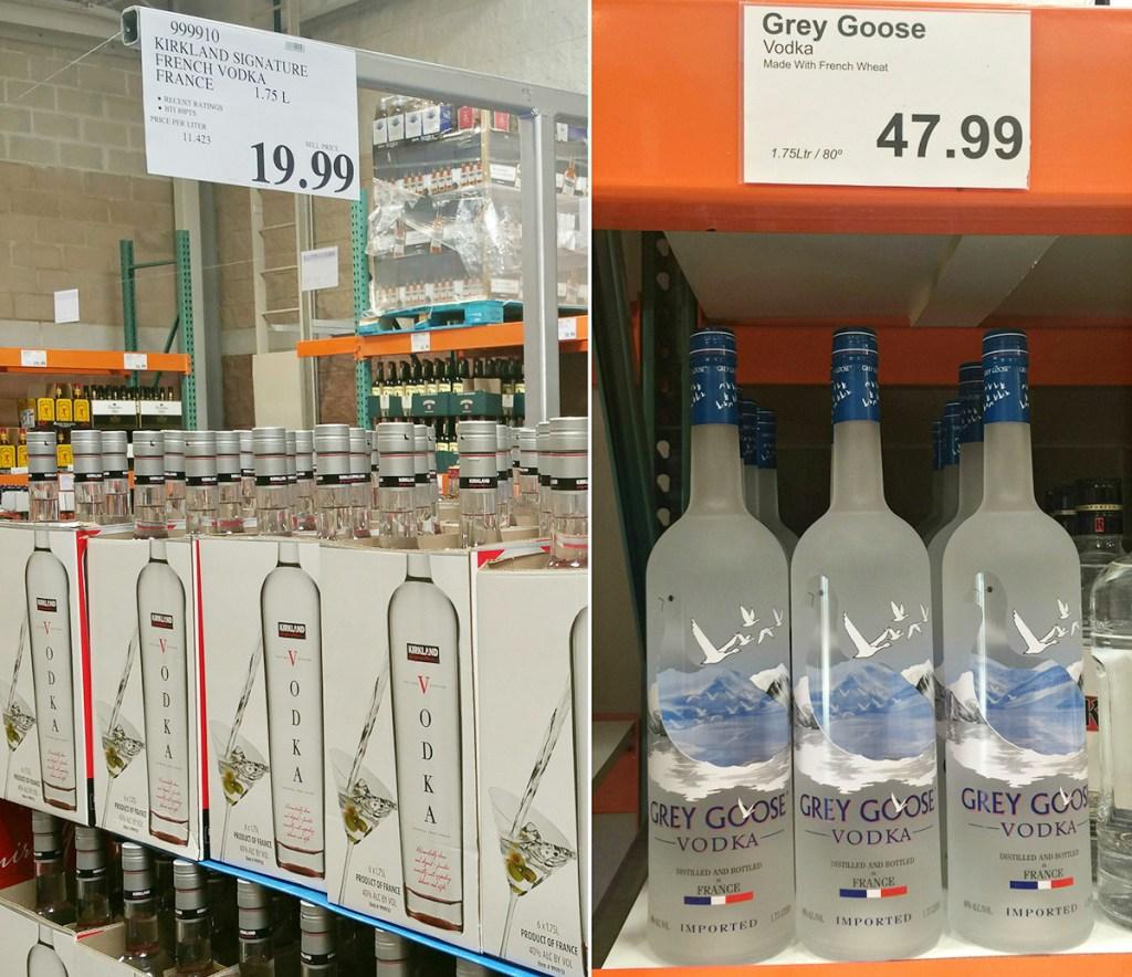 kirkland signature vodka compared to grey goose vodka