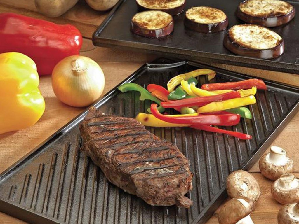 lodge cast grill griddle reversible
