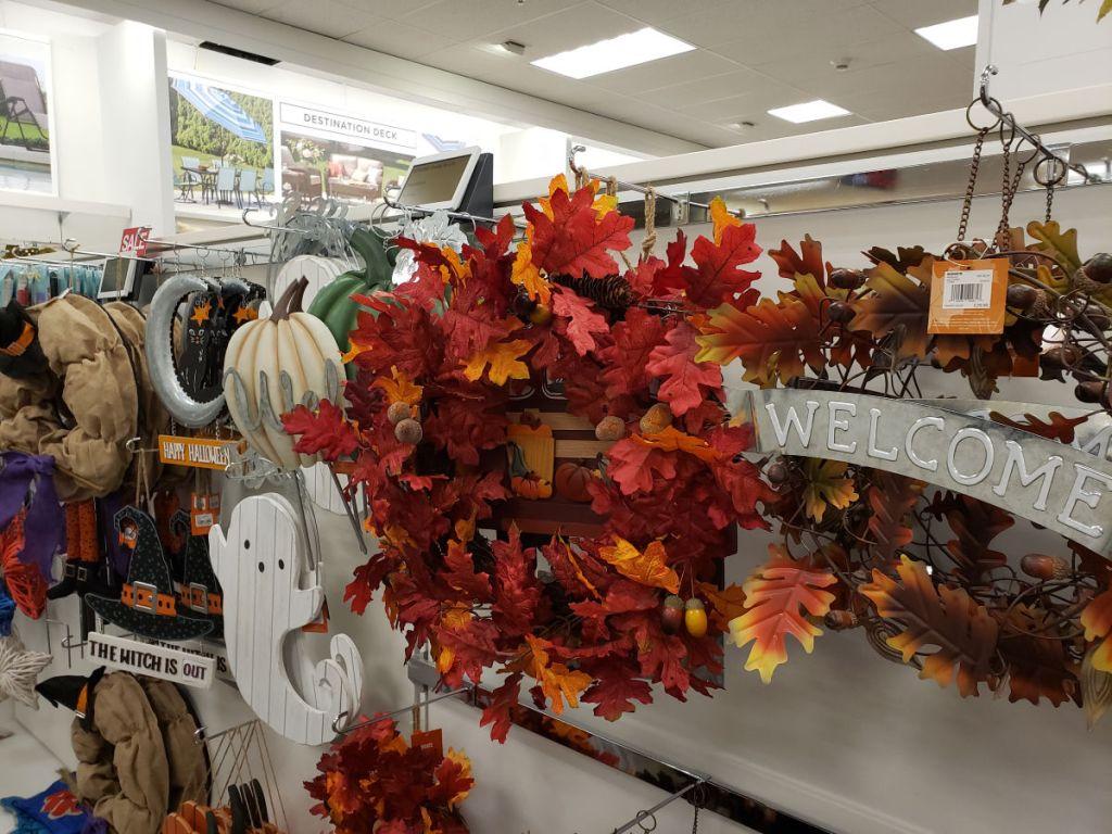 halloween wreaths and wall decor at kohls