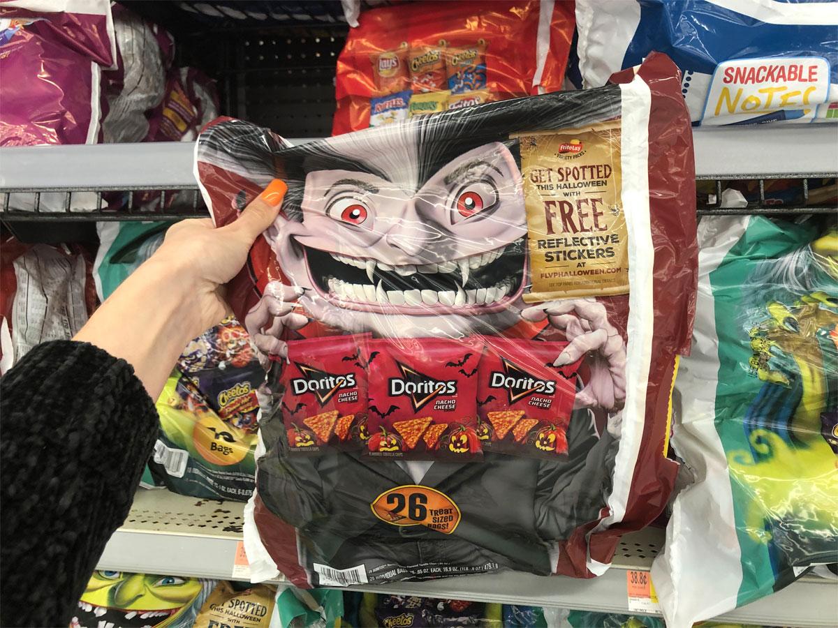 Frito-lay doritos variety pack chips at walmart hand holding