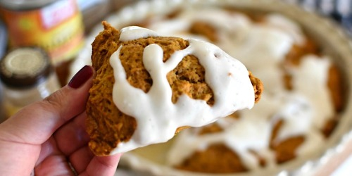 The Best Pumpkin Spice Scones with Cream Cheese Glaze