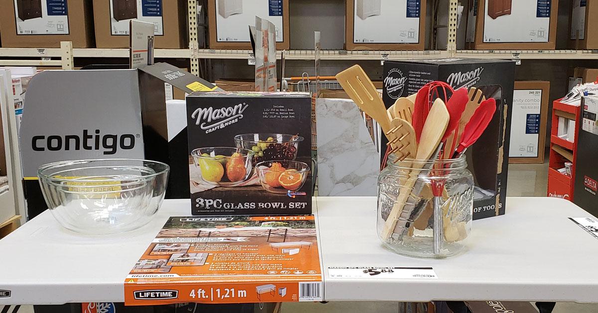home depot mason craft bowl set and tool set