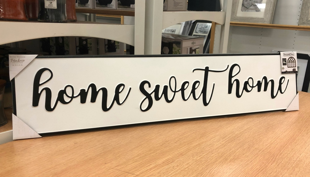 home sweet home farmhouse sign at Kohl's