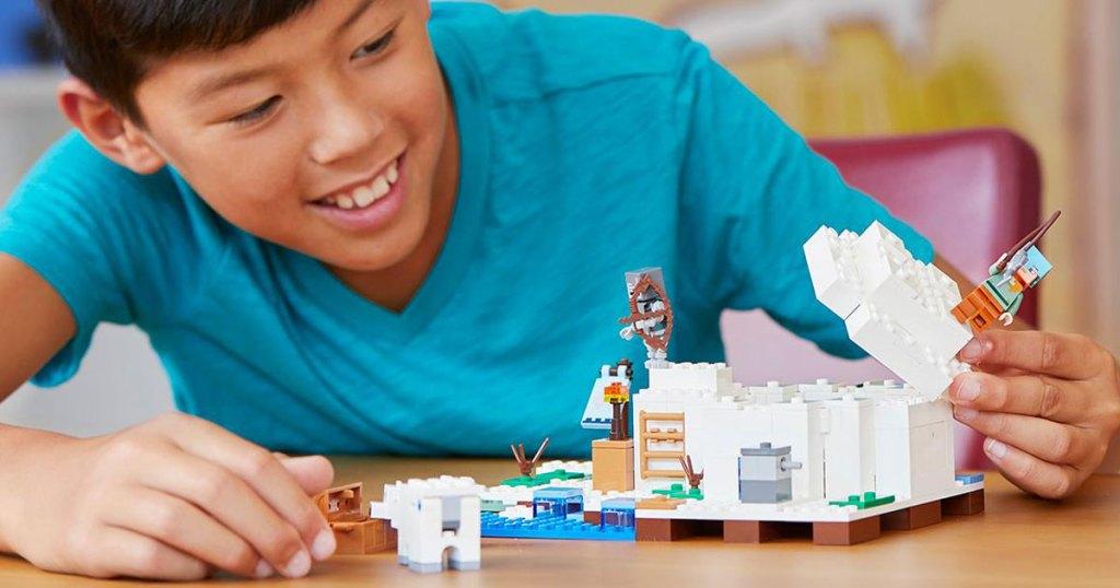 amazon lego minecraft igloo