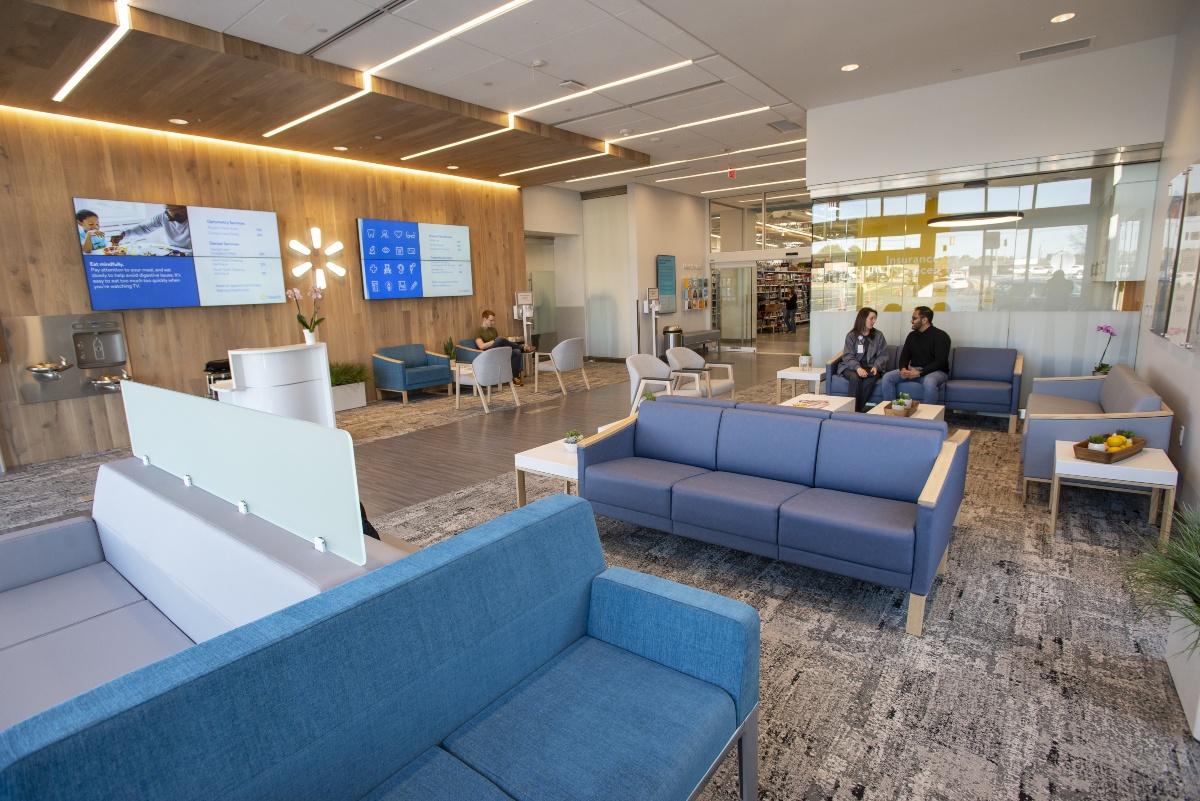 interior of Walmart Health Center
