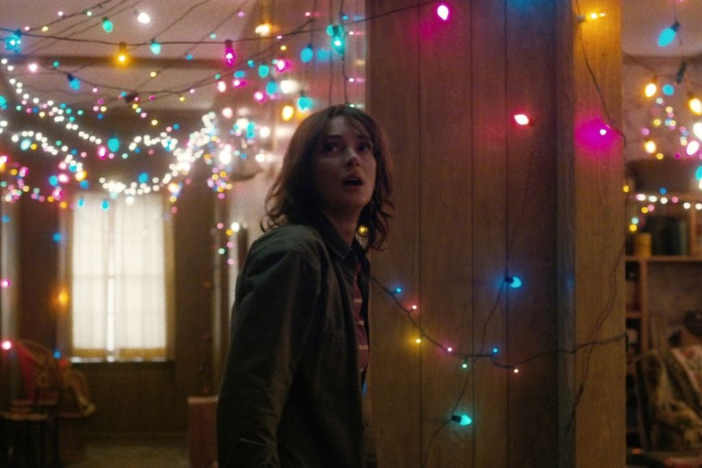joyce stranger things with christmas lights