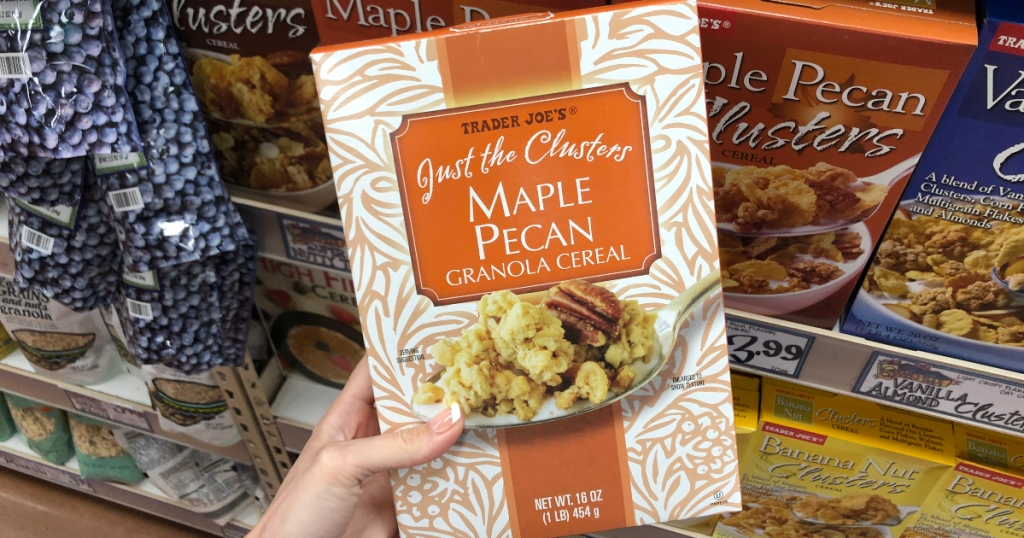 Just the Clusters Maple Pecan cereal