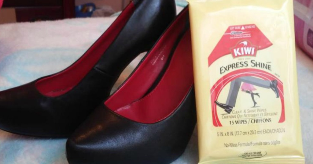 shoes and kiwi shine wipes