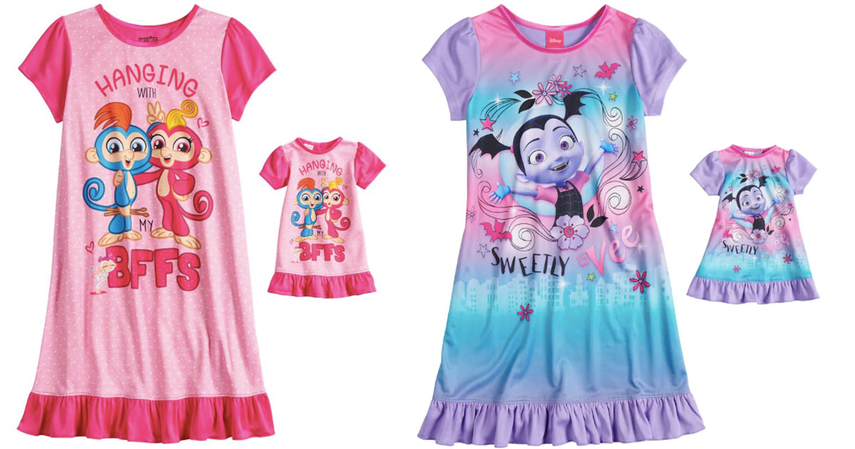 girls fingerlings and vampire matching pajamas with doll size