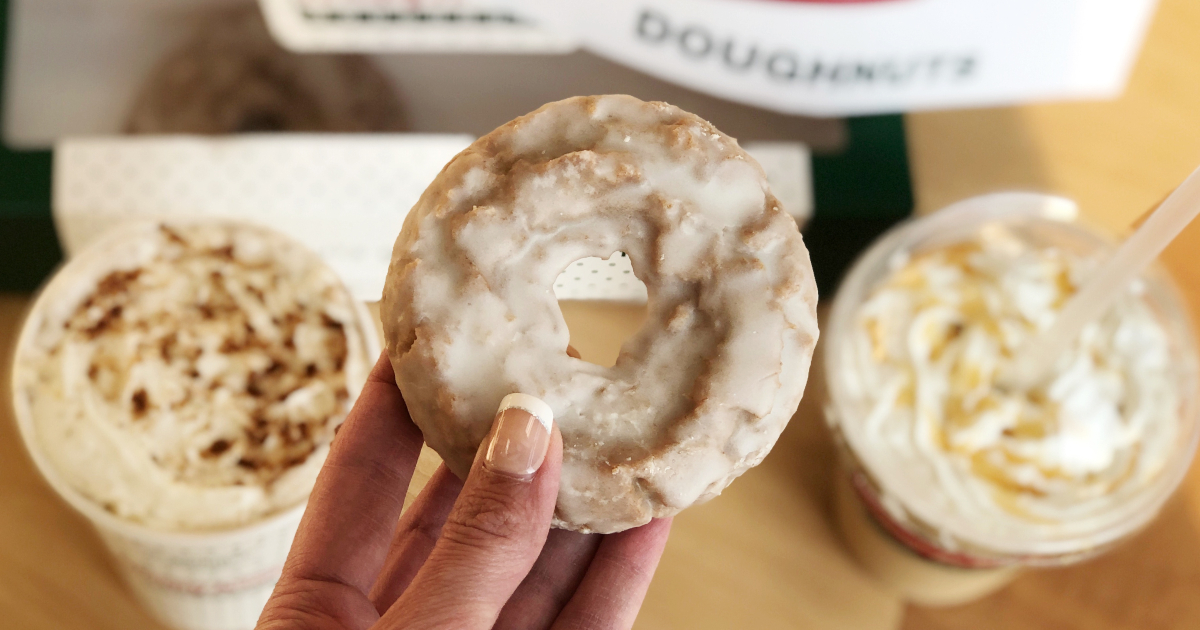 Krispy Kreme PSLs and donut