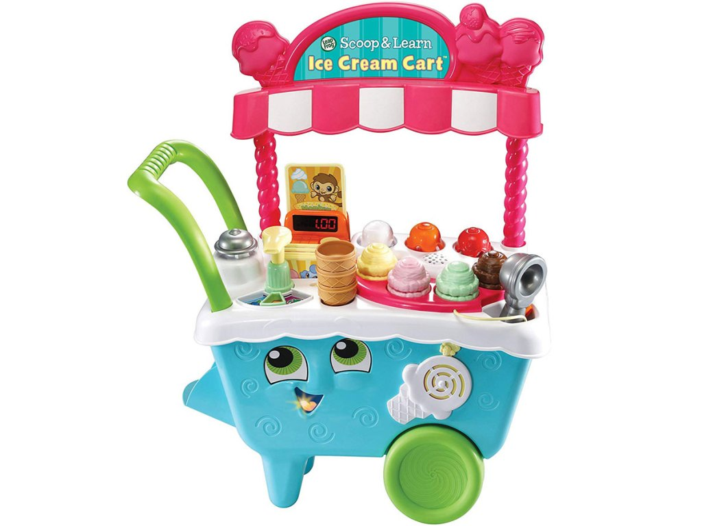 stock image of the leapfrog scoop and learn ice cream cart