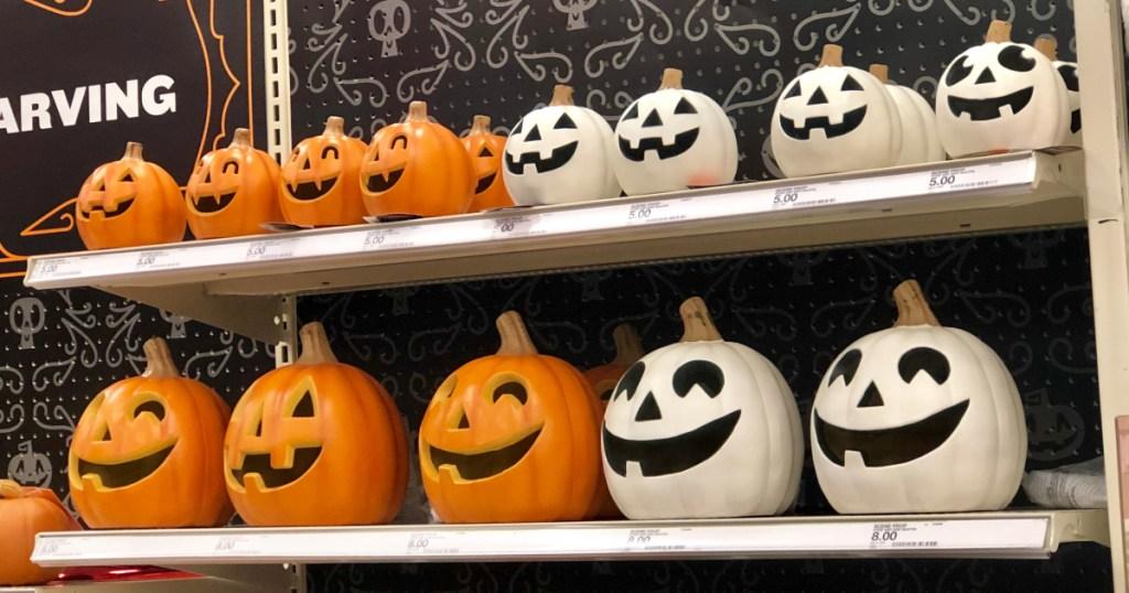 light-up pumpkins