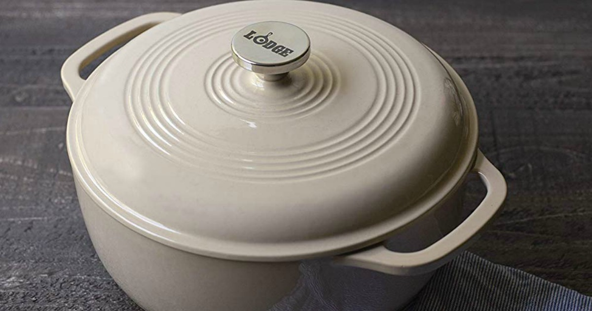 lodge dutch oven on countertop