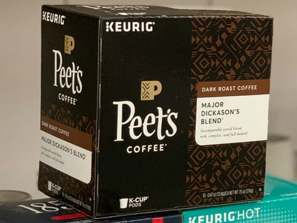 box of coffee pods