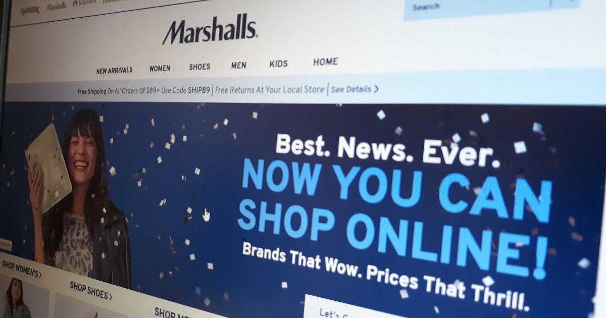 Marshalls online shopping