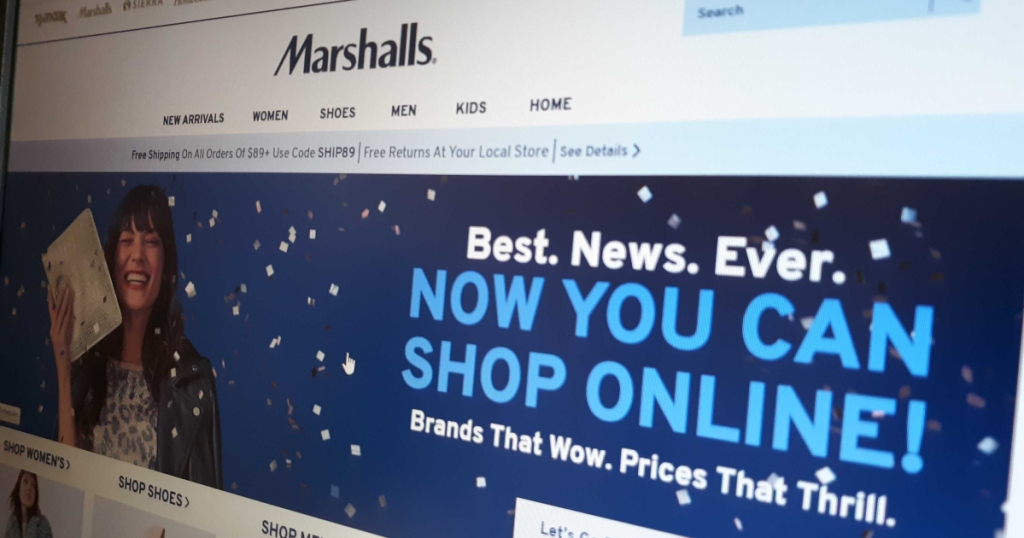 Marshalls online shopping