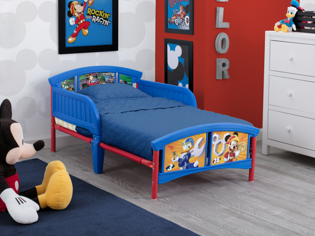 donald duck and mickey disney toddler bed
