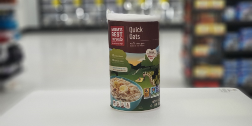 New $1/1 Mom's Best Cereal Coupon = Quick Oats 1-Pound Container Only 28¢ at Walmart + More
