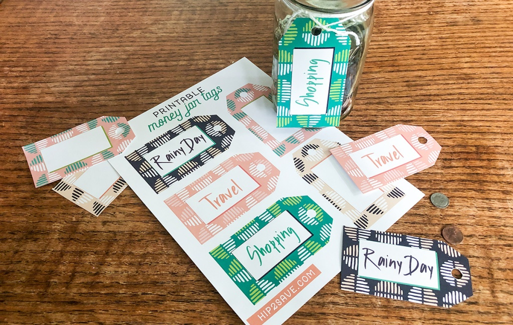 Money jar printable tags