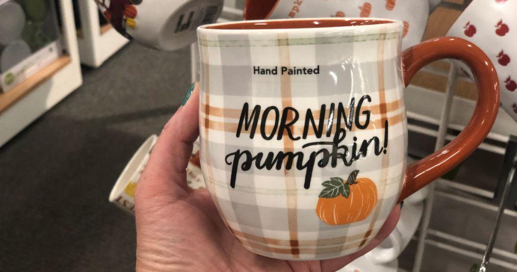 morning pumpkin coffee mug kohls