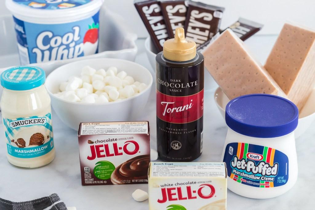 Ingredients for no-bake more lasagna