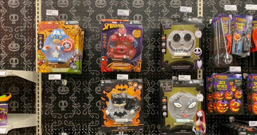 no-carve pumpkin kits at Target